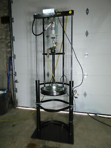 Lincoln Barrel Drum Greese Pump Pneumatic Lift 55 Gallon Nice Last One