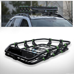 Matte Black green Modular Hd Steel Roof Rack Basket Cargo Trey wind Fairing C34