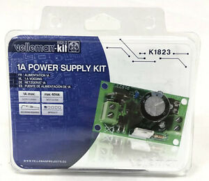 Velleman 1a Power Supply Kit New Sealed K1823 Soldering Required Max 40vdc