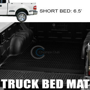 Fits 97 03 Ford F150 6 5 Ft Blk Rubber Diamond Truck Bed Trunk Mat Carpet Liner