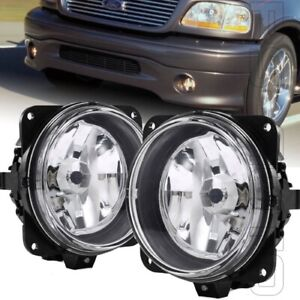 Fits 2000 2004 Ford F 150 F150 Harley Davidson Left Right Pair Clear Fog Lights