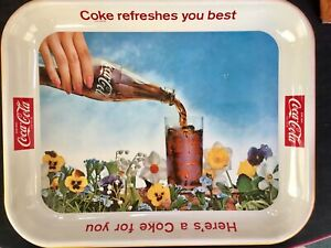 """Vintage 1960's Coca Cola Serving Tray """"discovered new old stock, never used"""" !"""