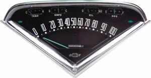 Reproduction Gauge Cluster Assembly 1955 1959 Chevrolet Gmc Pickup Truck
