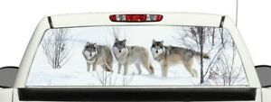 Wolf Rear Window Graphic Decal Perforated Vinyl Wrap