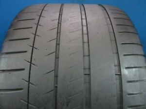 Used Michelin Pilot Super Sport Zp 335 25zr 20 5 6 32 Tread No Patch 1745f