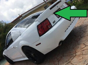 Cobra 03 style Rear Spoiler 1999 2004 Mustang With Opening For Light Key Hole