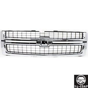 For 07 10 Chevy Silverado Hd Chrome Grille With Black Insert Fit Gm1200608
