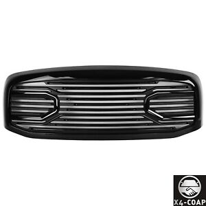 For 06 09 Dodge Ram 1500 2500 3500 Big Horn Style Glossy Black Abs Grille Shell