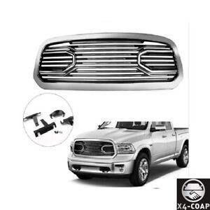 For 13 17 Dodge Ram 1500 2500 3500 Big Horn Style Chrome Abs Grille shell