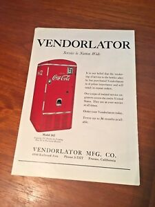 Coca Cola 1940s Vendorlator Model 242 Magazine Ad Fresno California Paper