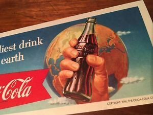 Coca Cola 1956 Friendliest Drink On Earth Ink Blotter Paper Ephemera