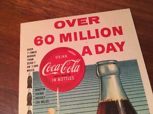 Coca Cola 1960 Over 60 Million A Day Ink Blotter Mint Paper