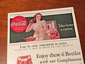 Coca Cola 1930s Complimentary Six-Bottle Coupon Card Fort Wayne Indiana Paper