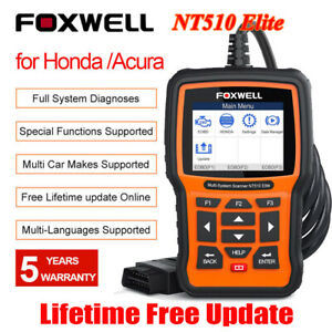Foxwell Nt510elite For Bmw Full System Bi Directional Scanner Tool Abs Srs Engin