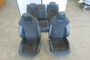 2013 Audi S5 Front Rear Seat Set Cpe Electric Leather W sport Seat W memory Oe