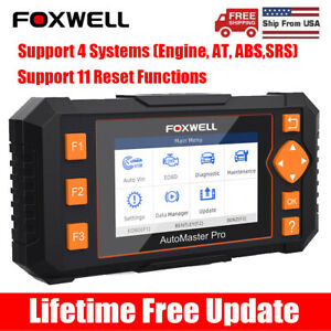 Foxwell Nt634 Auto Obd2 Scanner Abs Srs Dpf Injector Coding Epb Diagnostic Tool