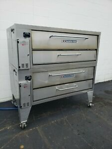 2015 Bakers Pride Double Stack 4151 Brick Lined Stone Ovens
