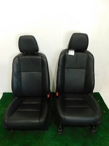 13 14 15 Avalon Black Leather Front Buckets Seats Left Right Hot Rod Sedan