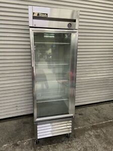 1 Glass Door Refrigerator Nsf Cooler Reach In Display Cooler True T 23g 3946