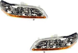 Headlights For Honda Accord 1998 1999 2000 2001 2002 Pair 2dr 4dr Except Sw