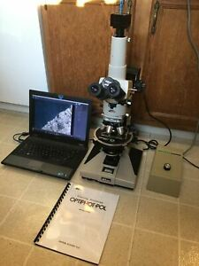 Nikon Optiphot pol Polarizing Microscope Dual Reflected transmitted System Look