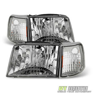 4pc 1993 1997 Ford Ranger Headlights Corner Signal Light Headlamps Replacement
