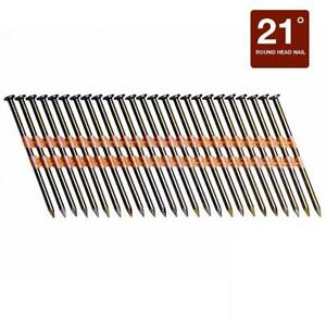 4000 pack Framing Collated Nails Pneumatic Nailer Round Head 21 Degree 3 25
