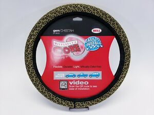 Bell Universal Studded Gem Hyper Flex Core Steering Wheel Cover 97182 9 Cheetah