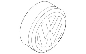 Genuine Volkswagen Center Cap 5g0 601 149 yui