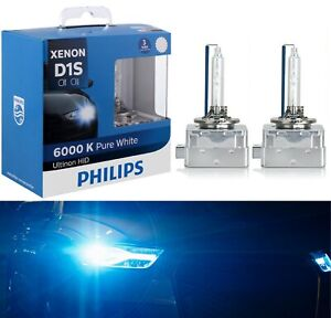 Philips Hid Xenon Ultinon D1s White 6000k Two Bulbs Head Light Replace Upgrade