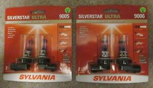 New Sylvania Silverstar Ultra 9005 9006 Su 2 Hi Lo Beam 4 Brand New Bulbs