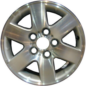 69382 Used 15x6 Alloy Wheel Rim Silver Painted With Machined Face