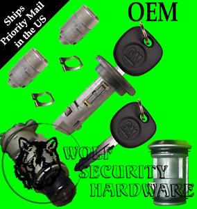 Chevy Gmc 2002 Ignition Switch Cylinder Door Spare Tire Liftgate Lock Set 2 Keys