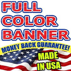 3 x5 Banner Full Color Custom 13oz Vinyl High Quality Great Price Free Ship Flg