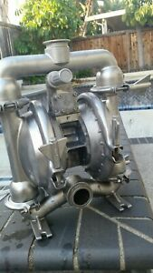 Versa Matic Stainless Steel 316 Diaphragm Pump 2 Ports