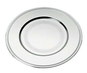 Albi By Christofle Paris France Silver Plated Charger Plate Underplate New