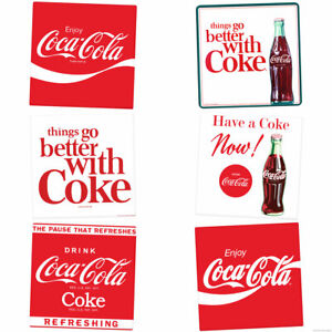 Things Go Better with Coke Coca-Cola Slogans Vinyl Sticker Set of 6 Decals