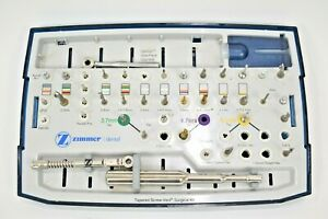 Zimmer Dental Oral Surgery Implant Tapered Screw vent Surgical Kit
