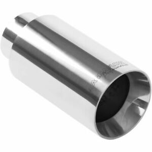 Magnaflow 35122 Stainless Steel Single Exhaust Tip 2 25 Inlet 3 Outlet New
