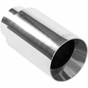 Magnaflow 35126 Stainless Steel Single Exhaust Tip 2 25 Inlet 4 Outlet New