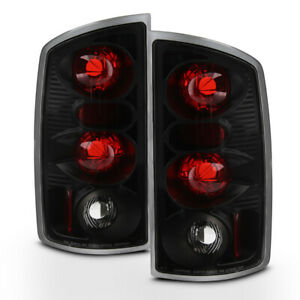 Black 2002 2003 2004 2005 2006 Dodge Ram 1500 03 06 2500 3500 Tail Lights Lamps
