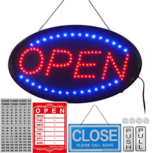 Led Open Sign Bigger Size Led Business Open Sign Include Business 23x14inch