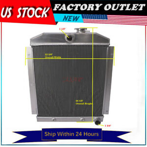 For Chevrolet 1947 1954 Truck Pickup 3100 3600 3700 3800 3rows Aluminum Radiator