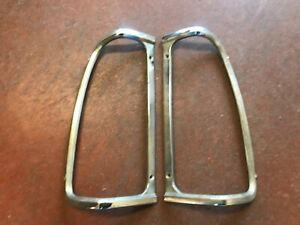 1972 1980 Dodge Pickup Tail Lamp Chrome Moldings L R