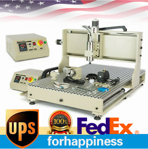 Cnc 4axis Router 6090 Engraver Usb Drill Mill Machine Metal Woodworking 1 5kw