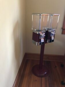 V Line Vending Gumball Machine Double With Pedestal