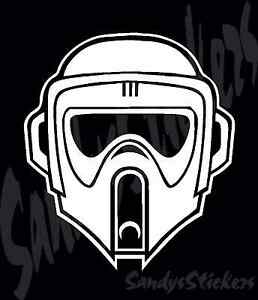 2 Star Wars Scout Trooper Vinyl Decals Stickers Many Colors Storm Trooper