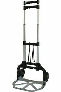 Folding Aluminium Cart Luggage Trolley Hand Truck With Black Bungee Cord Dolly