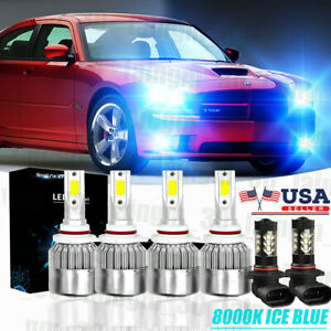 For Dodge Charger 2006 2007 2008 2009 Led Headlights Fog Light Bulbs 8000k 6pcs