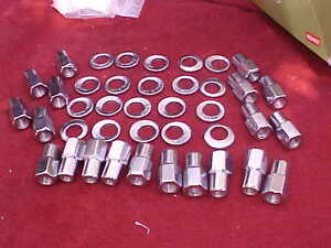 20 12mmx1 5 Nhra Open End Mag Wheel Lug Nuts cragar With Offset Washers cos15